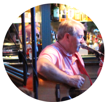 Entertainer Sings Traditional Irish Music in Vaults Bar
