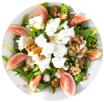 St Tolas Goats Cheese and Fig Salad